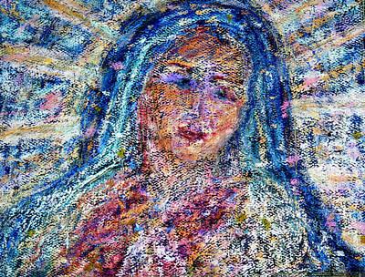 Virgen De Guadalupe Painting - La Virgen De La Luz by  Tolere