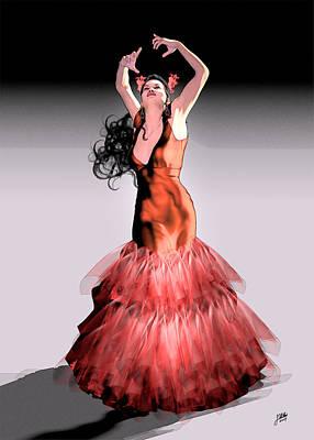 Gypsy Digital Art - La Zarzamora  by Quim Abella