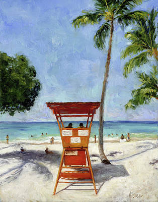 Haleiwa Painting - La'aloa Beach Park by Stacy Vosberg