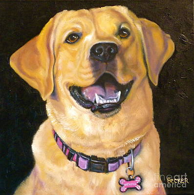 Painting - Lab Adorable by Susan A Becker