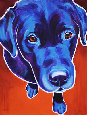 Dawgart Painting - Lab - Olive by Alicia VanNoy Call