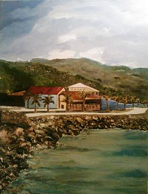 Painting - Labadee Resort 2 by Ray Khalife