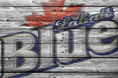 Handcrafted Photograph - Labatt Blue by Joe Hamilton