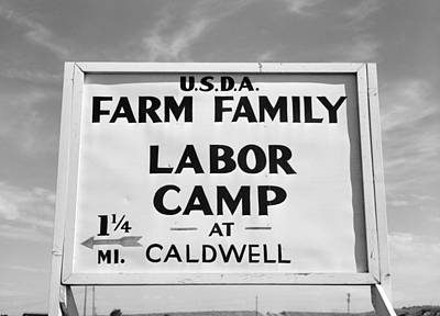 Photograph - Labor Camp Sign, 1941 by Granger