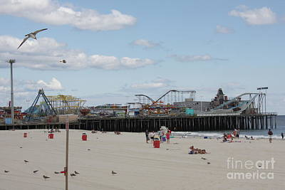 Labor Day At The Pier  Art Print by Laura Wroblewski