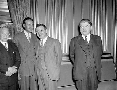 Hillman Photograph - Labor Leaders, 1937 by Granger