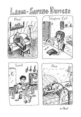 Book Title Drawing - Labor-saving Devices by Roz Chast