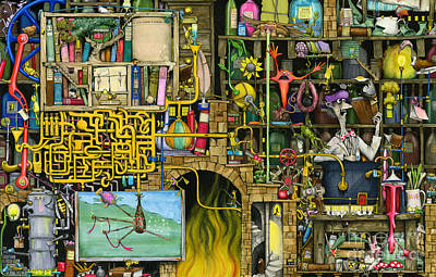 Chaos Painting - Laboratory by Colin Thompson