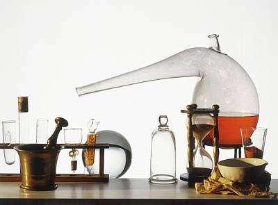 Laboratory Equipment Photograph - Laboratory Equipment by Dorling Kindersley/uig