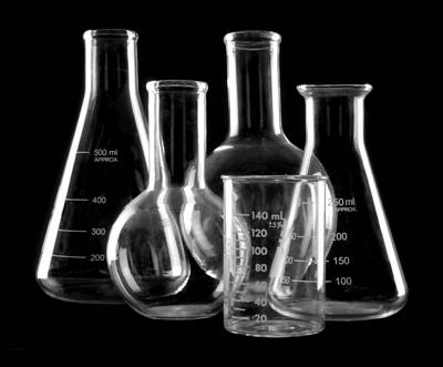 Flasks Photograph - Laboratory Glassware by Jim Hughes