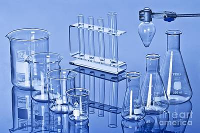 Borosilicate Photograph - Laboratory Glassware by Martyn F. Chillmaid