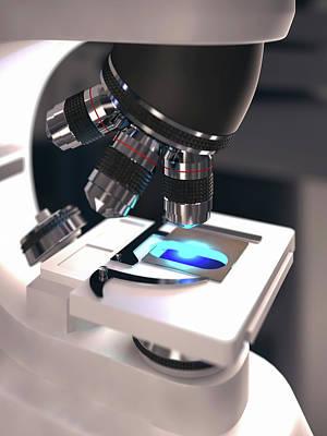 Laboratory Microscope Print by Ktsdesign