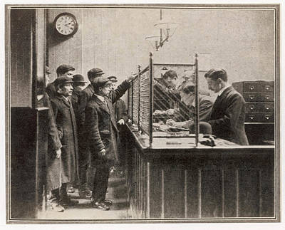 Labour Exchange At Camberwell Green Art Print by  Illustrated London News Ltd/Mar