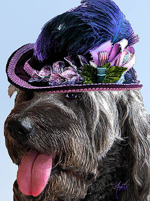 Puppies Mixed Media - Labradoodle Trudy To The Derby by Michele Avanti