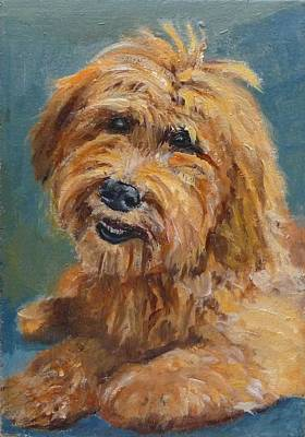 Art Print featuring the painting Labradoodledoo by Jessmyne Stephenson