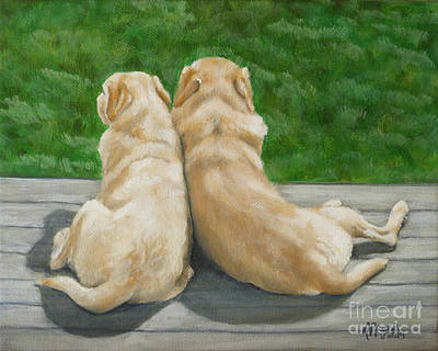 Painting - Labrador Lazy Afternoon by Amy Reges