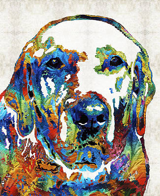 Rescue Pet Painting - Labrador Retriever Art - Play With Me - By Sharon Cummings by Sharon Cummings