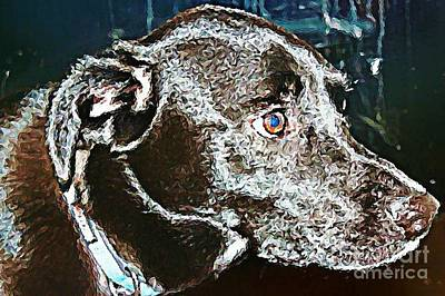 Labrador Retriever Digital Art - Labrador Retriever   by Judy Palkimas