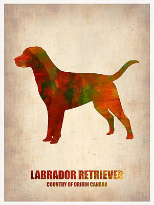 Cute Dog Digital Art - Labrador Retriever Poster by Naxart Studio
