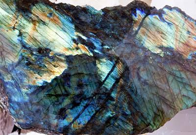 Crystalline Photograph - Labradorite by Dirk Wiersma