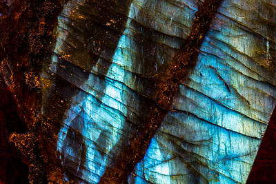 Labradorite Photograph - Labradorite Macro by Robert Storost