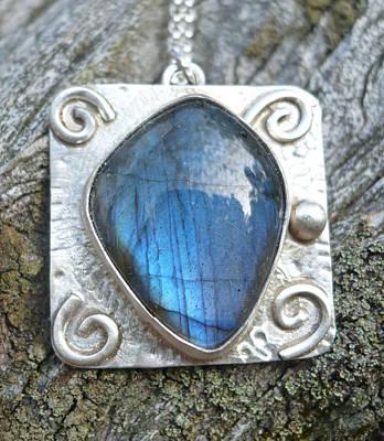 Sterling Silver Jewelry - Labradorite Spiral Pendant by Arianna Bara