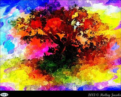 Digital Art - Laburnum Blackness by Holley Jacobs