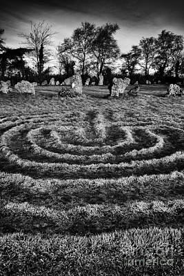 Labyrinth Photograph - Labyrinth At Rollright by Tim Gainey