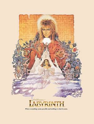 David Bowie Wall Art - Digital Art - Labyrinth - Movie Poster by Brand A