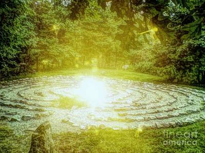 Labyrinth Myth And Mystical Art Print