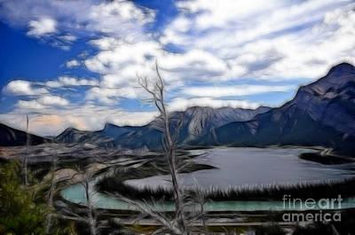 Lac Des Arcs Fractal Art Print