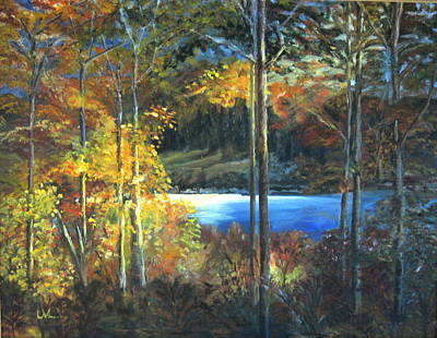 Art Print featuring the painting Lac Fortune Gatineau Park Quebec by LaVonne Hand