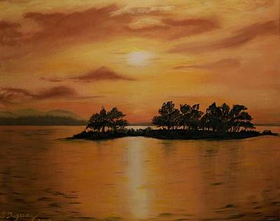 Painting - Lac La Biche  Sunset by Sharon Duguay