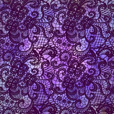 Digital Art - Lace -5 - Purple by Lilia D