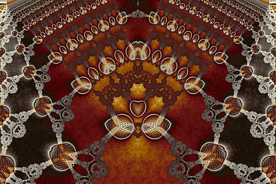 Lantern Digital Art - Lace And Golden Lanterns No. 1 by Mark Eggleston