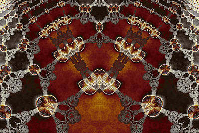 Lantern Digital Art - Lace And Golden Lanterns No. 2 by Mark Eggleston