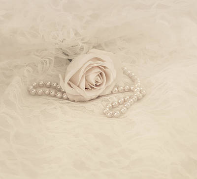 Bead Embroidery Photograph - Lace And Promises by Kim Hojnacki
