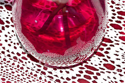 Photograph - Lace And Vase by Adria Trail