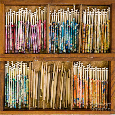 Photograph - Lace Bobbins by Liz  Alderdice