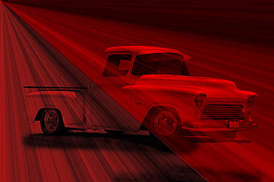 Lace Curtains 1956 Chevy Pick Up Art Print by Dave Koontz