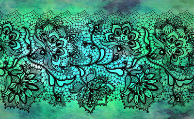 Digital Art - Lace - Malachite by Lilia D