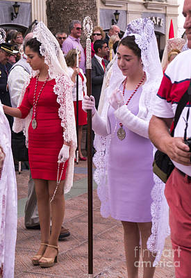 Photograph - Lace Mantillas On Easter Sunday by Brenda Kean
