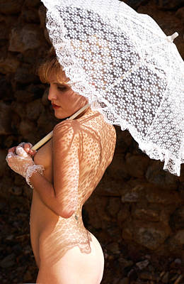 Photograph - Lace Umbrella by Scott Sawyer