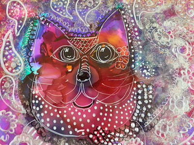 Painting - Lacey Cat by Jann Elwood