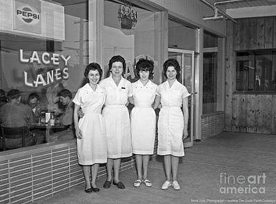 Photograph - Lacey Lanes - Waitresses 1964 by Merle Junk