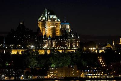 Lachateau Frontenac At Night Art Print