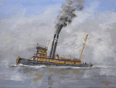 Art Print featuring the painting Lackawanna Tug by Christopher Jenkins