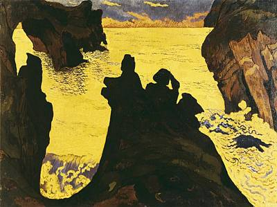 Lacombe, Georges 1868-1916. The Yellow Art Print