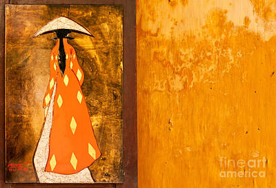 Photograph - Lacquer Painting Ochre Wall by Rick Piper Photography