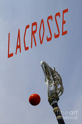 Lacrosse Is The Word 1 Art Print